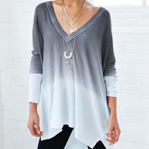 Urban Outfitters Sweater Ombré V-neck Tunic Top
